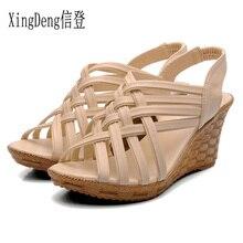 XingDeng Ladies European Wedges Shoes Size 35-40 Women Fashion Sandal