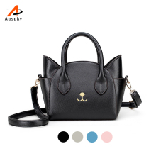 New Womens Hand Bags Small Cute Cat Messenger Bag Luxury Handbags Women Leather Bags Ladies Black Famous Brands Designer Bag 45
