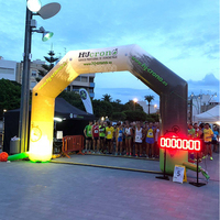 Benao R492 20 футов HQ угол Арка С светодиодный, старт/финишная АРКА, освещение Спортивная Арка ворота для ночного Бег и продвижение