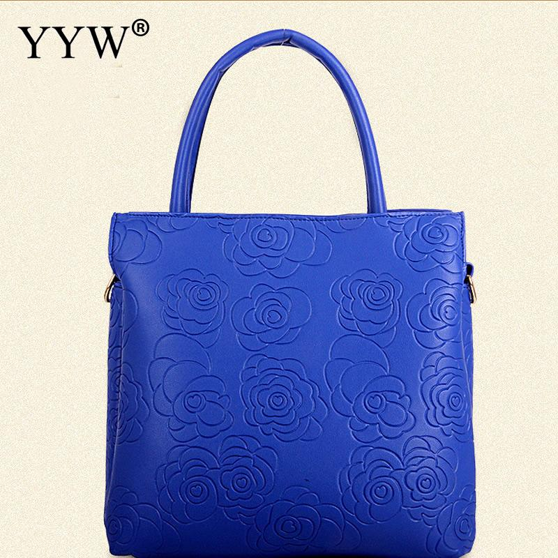 3 pieces Women Simple PU Leather Shoulder bags Flower Large Office Lady Handbag Female Tote3 pieces Women Simple PU Leather Shoulder bags Flower Large Office Lady Handbag Female Tote