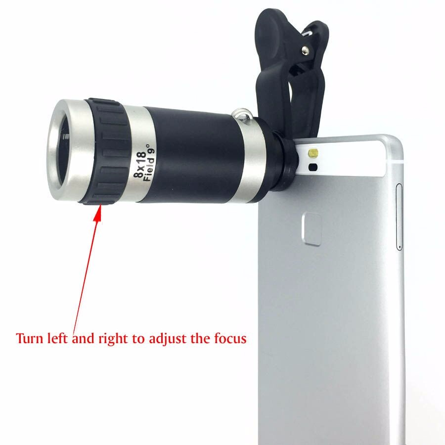 YFT Universal Smart Phone Camera lens For iPhone 8X Zoom Telephoto Lens 3in1 Fisheye Lens Wide Angle Macro Lens Tripod Bluetooth 5