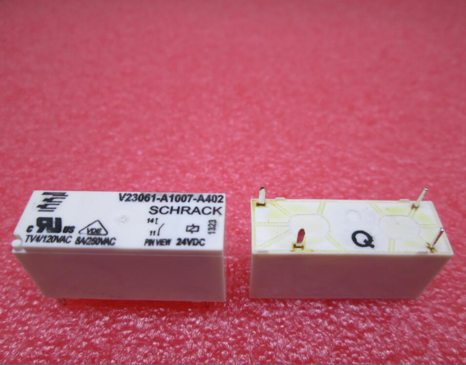 HOT NEW relay V23061-A1007-A402 24VDC V23061-A1007-A402-24VDC V23061A1007A402 24VDC DC24V 24V 8A DIP4 hot new 55 32 9 024 0040 24vdc 55 32 9 024 0040 24vdc 10a 250v finder dip8