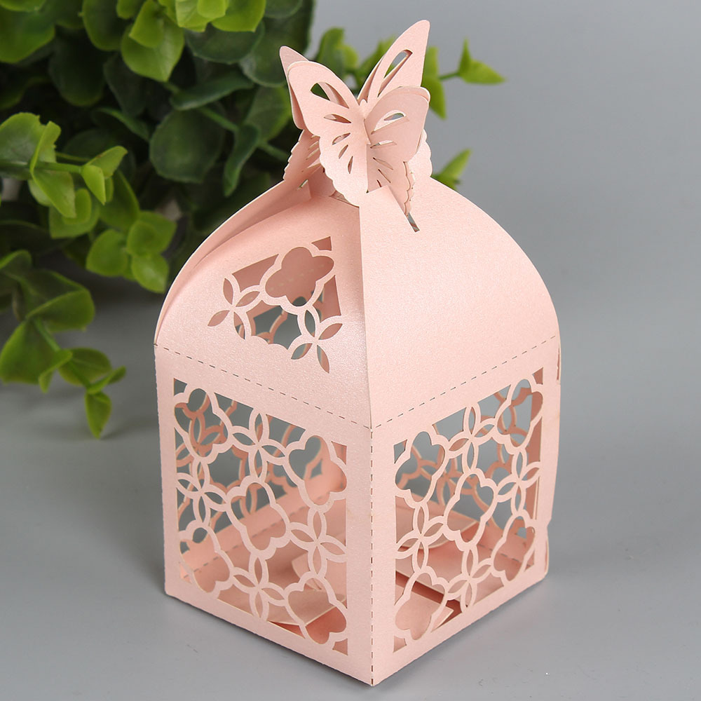free shipping 50pcs 5 * 5 * 5cm candy box wedding gift ideas hollow ...