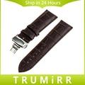 22mm de cuero genuino reloj de la mariposa banda hebilla para samsung gear 2 r380 neo r381 vivo r382 moto 360 2 gen 46mm correa pulsera