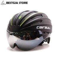 Capacete de alta densidade pneumático tt  105/l  molde  mountain bike  óculos de segurança  capacete de corrida  aero capacete de ciclismo com trilha