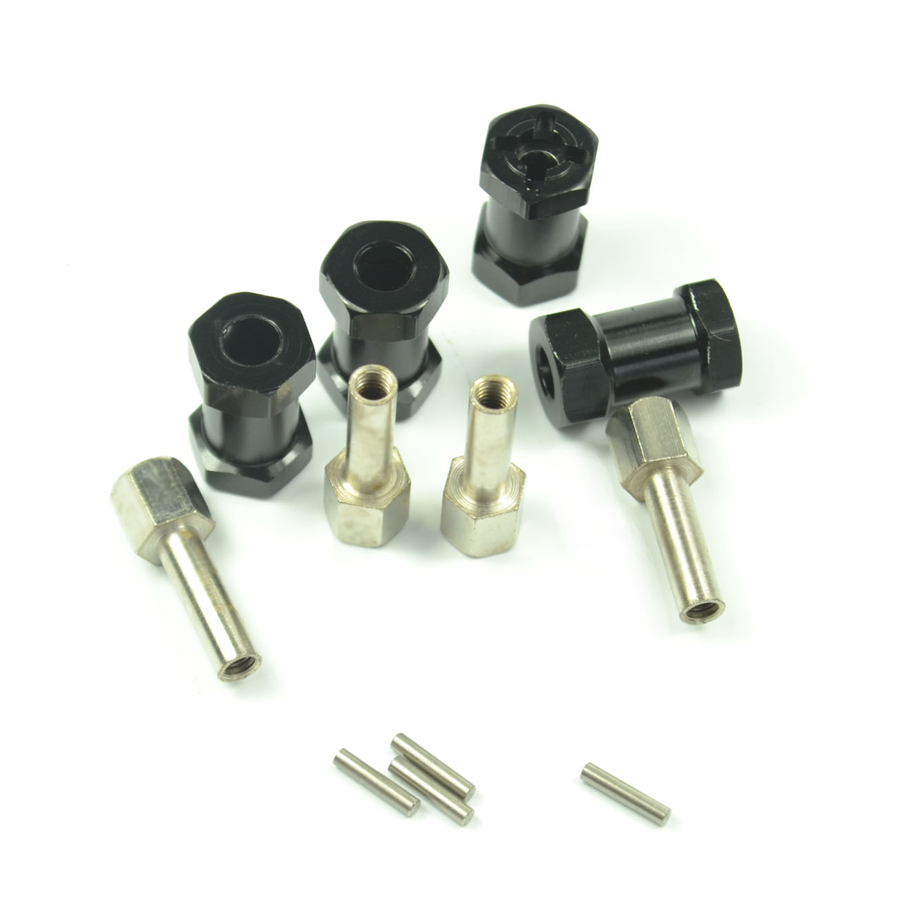 4PCS 1/10 RC Rock Crawler Uppgraderingslängd Aluminium 20MM Förlängningsadapter Alloy Hub HEX 12MM SCX10 RC4WD D90