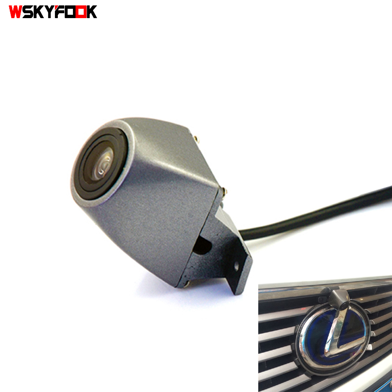 180deg Sony CCD HD Night Vision Car Front View Logo Camera For Lexus RX NX 2013 Front Logo Brand Camera Waterproof