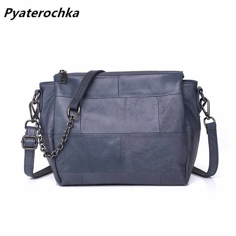 e6a37875c3d4 Pyaterochka Brand 100% Genuine Leather Handbags Women Shoulder Crossbody Bag  High Quality Cheap Luxury Real