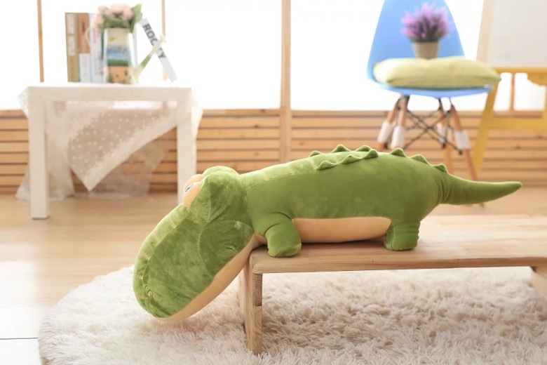 big plush crocodile toy green soft crocodile pillow doll gift about 105cm 2608 lovely giant panda about 70cm plush toy t shirt dress panda doll soft throw pillow christmas birthday gift x023