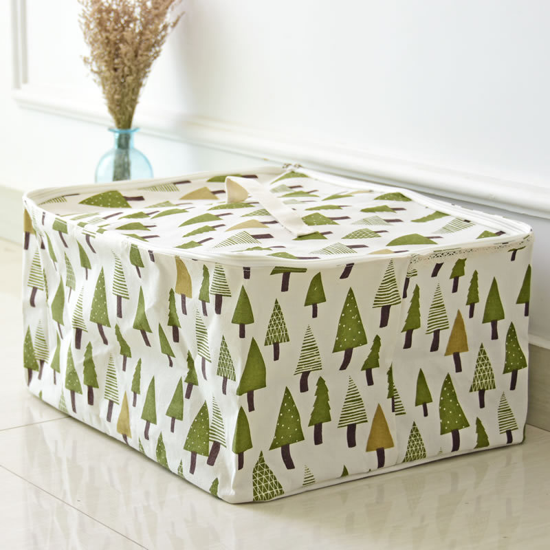 Tree Cotton Line Clothing wardrobe Storage Basket Box secret Pouch Large Laundry lingerie washing Quilt storage Organizer