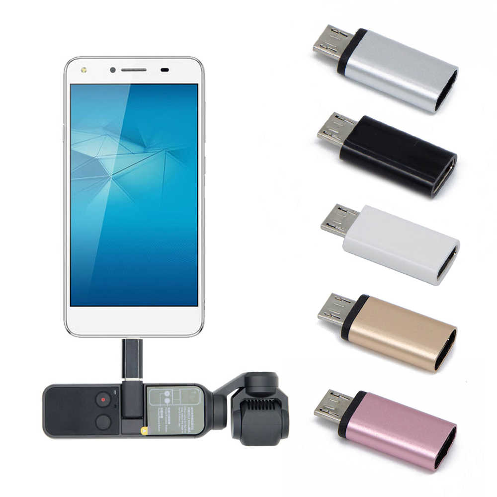 1pcs Universal Type-C to Micro-USB Female Converter for DJI OSMO Pocket Handheld Gimbal Accessories Mobile Phone Adapters