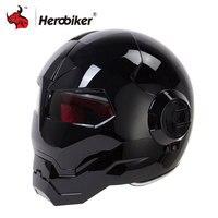HEROBIKER Motorcycle Helmet Vintage Retro Moto Helmet Motorbike Full Face Helmet Casco Moto Cruiser Chopper Cafe Racer Capacetes