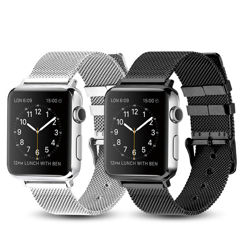 Milanese Watchband for Apple Watch 38mm 42mm Stainless Steel Gold Women Men Replacement Bracelet Band Strap for iWatch 1 2 3 4 in Watchbands from Watches