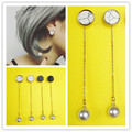 Timeless Wonder Simple Chic Stone Faux Pearl Stud Earrings Trendy korean Japan Star Pop Stylist Picks sassy wedding sale 4873