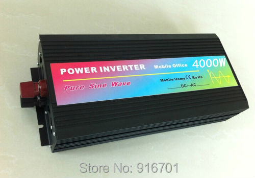 4000W/8000W Off Grid Inverter for solar panel, dc to ac Pure sine wave Power Inverter 12V 220V letter print knot front top