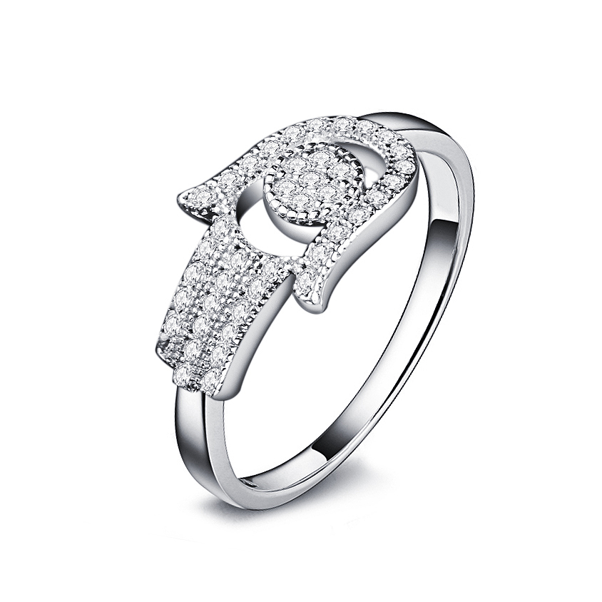 OMYFUN Real 925 Sterling Silver Hamsa Ring Hand of Fatima Jewelry anel de prata Silver Rings with CZ Micro Paved Fashion Jewelry (1)