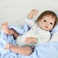 Full Body Bebe Reborn Doll 22 Pulgadas de Vinilo de Silicona Realista reborn bonecas reborn bebés Niño niña de Muñecas para el regalo de los niños