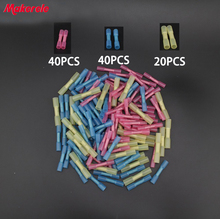 цена на 100pcs Insulated Heat Shrink Butt Connectors Wire Electrical Crimp Terminals 22-10 AWG Kit