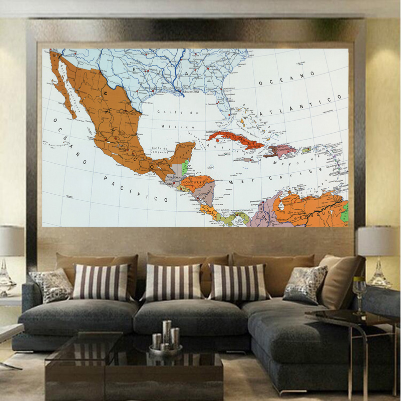 best pirce north america map fashion living room paintings print on