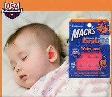 Kid s Hot Sale Free shipping 6 Pairs Macks Kids Orange Ear Plugs Soft Silicone Waterproof