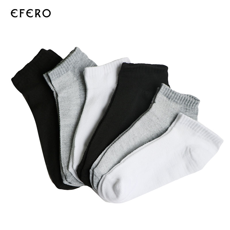 3Pair Male Boat   Socks   For Men Lot Human   Socks   Men's 3d Invisible   Socks   Short Men Slipper Hot Gray White Black Summer Style