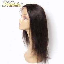 Perruque Lace Frontal wig 360 Remy brésilienne lisse – Nadula, cheveux 100% naturels, couleur naturelle, 10-20 pouces, partie libre avec Closure