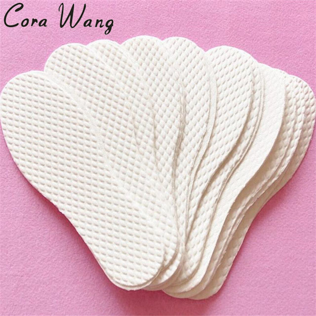 CORA WANG 3 Pairs/ lot Disposable Comfortable wood pulp Shoes Insoles Inserts insoles for footwear Men Women palmilha EE2IS01