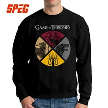 Game Of Thrones Sweatshirt Mens Funny 100% Cotton Crew Neck Pullover Normal Hoodie for Male