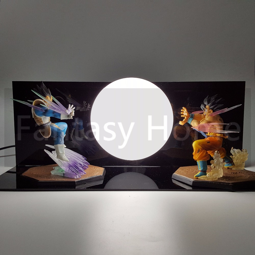 Dragon ball z action figure fils goku vs vegeta diy affichage Jouet Dragonball Goku Super Saiyan Figuras DBZ Figure + Ampoule + Base DIY16