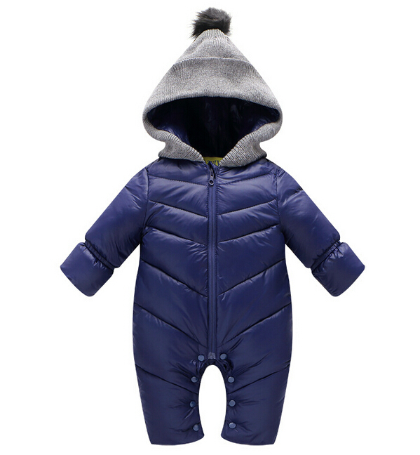 Newborn Baby Rompers Winter Thick Cotton Boys Costume Girls Warm Clothes Babies Jumpsuit Children Outerwear Baby Wear Snowsuit newborn baby girls winter coveralls boys padded thick cotton rompers kids warm jacket children outerwear clothes babt costume