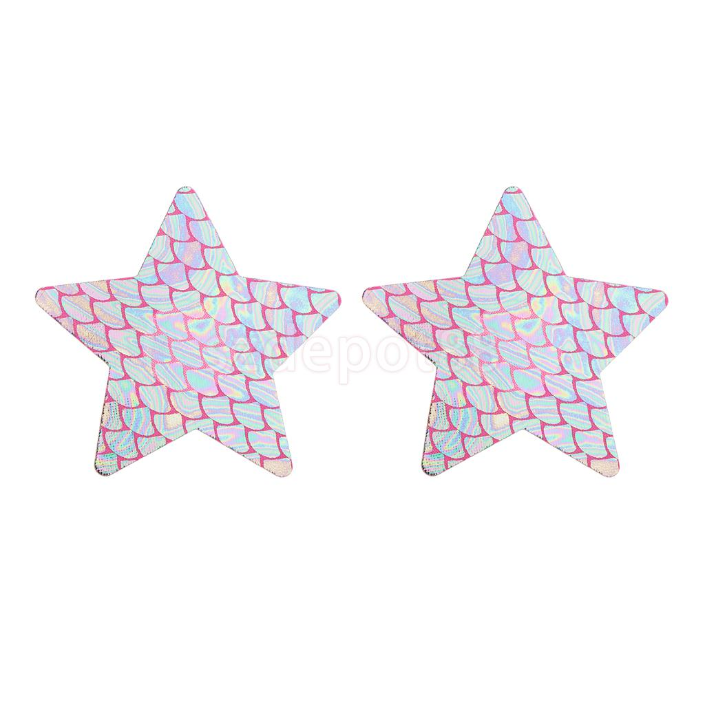 Women's Disposable Rave Pasties Adhesive Breast Petal Nipple Cover Stickers Star/Flower