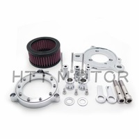 Aftermarket Free Shipping Motorcycle Parts Chrome Air Cleaner Intake Filter System Kit Fit Harley Sportster XL