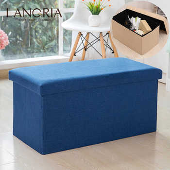 Household Portable 110L Storage Box Sofa Comfortable Chair Sofa StoolS Ottomans Pouf Storage Poef Foot Stool 5 Colors Furniture - DISCOUNT ITEM  35% OFF All Category