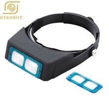 EYESHOT Glass Lens 1.5X 2X 2.5X 3.5X Optivisor Headband Magnifier Watch Repair Magnifying Glasses Magnifying Eye Lupa