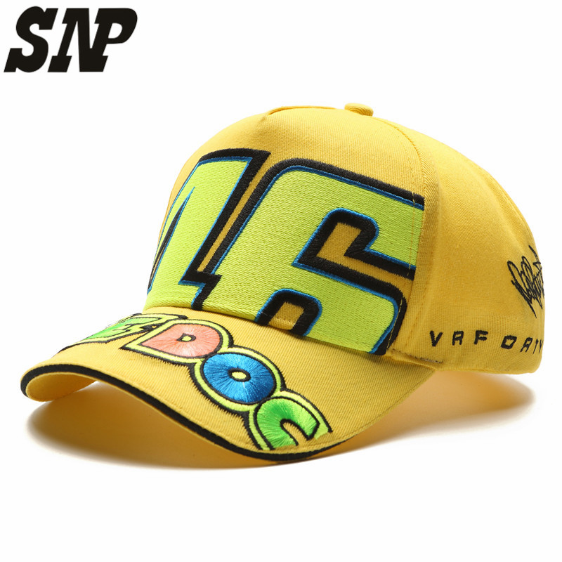 Wholesale Rossi 46 Embroidery Fashion Men Women Snapback Caps Hat Motorcycle Racing Cap Vr46 Baseball Cap
