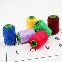 Многоцветные швейные нитки 300 м мини-Катушка промышленная швейная нить машинная линия домашняя вышивка нитки Ручное шитье аксессуары
