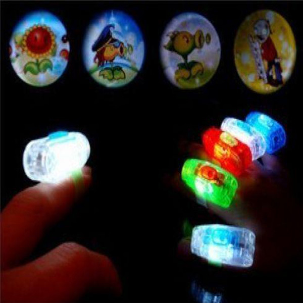 Led Ring Finger To Dazzle Colour Projection Lamp Glow Lamp Children Toys