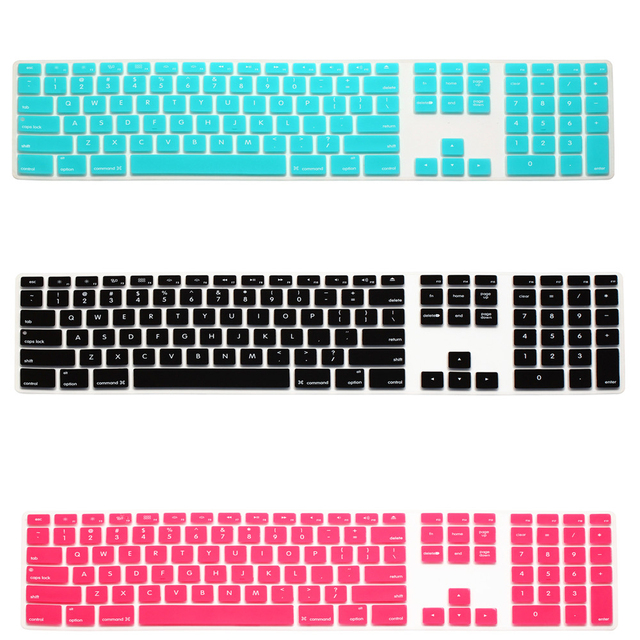 2016 Newest Fashion Candy Colors Silicone Keyboard Cover For imac Integrated apple Macintosh computer Keyboard Protector Film