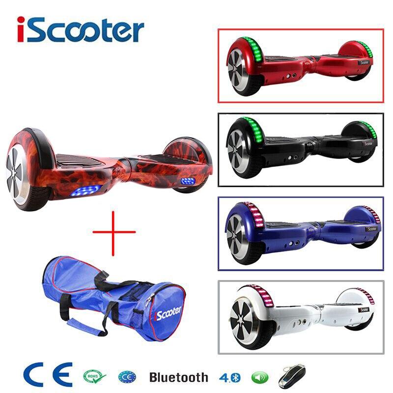 6.5 pouce Hoverboard Deux Roues Auto Équilibre Scooter Hover Bord Avec Sac de Transport