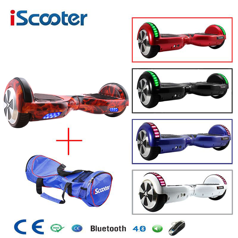6,5 pulgadas Hoverboard dos ruedas auto equilibrio Scooter Hover con bolsa