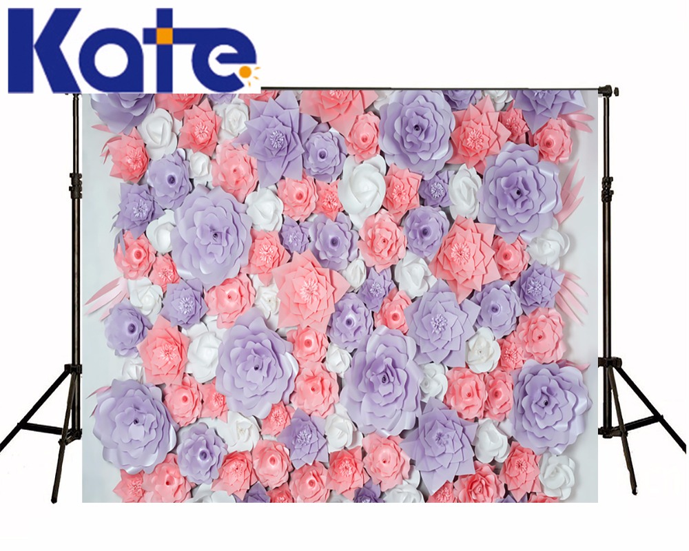 Kate Flower Wall  Backdrop Spring Photography Backdrops Indoor Wedding Background Cloth Seamless Photo For Studio Custom