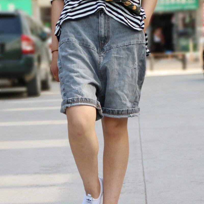 jeans shorts damen knielang