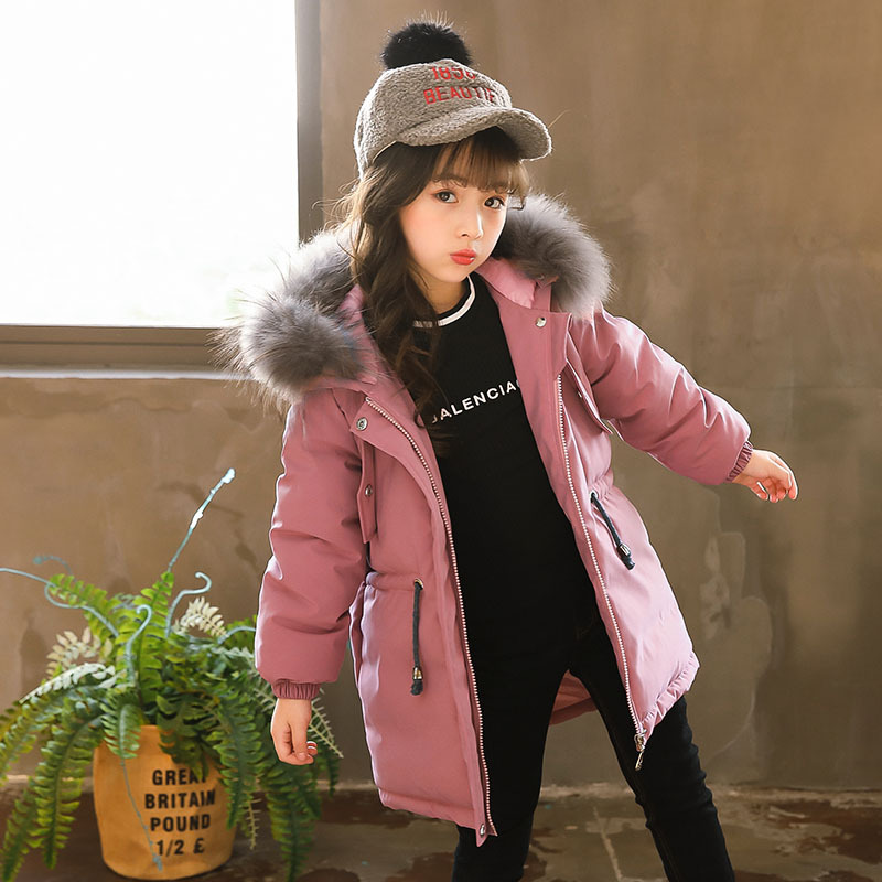 Girls Coat Children Parkas 2018 Winter New Baby Girl Jackets Embroidery Flowers Children Cotton-padded Jacket Warm Outfit,#3643 new 2017 men winter black jacket parka warm coat with hood mens cotton padded jackets coats jaqueta masculina plus size nswt015