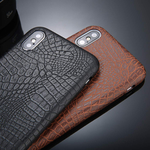 Crocodile Leather Case for iPhone
