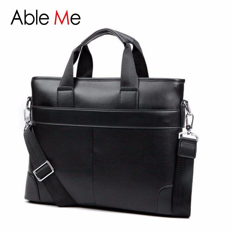 Luxury Brand Men leisure Briefcase Business Shoulder Bag Notebook Computer Leather Messenger Bags Computer Laptop Men's Handbag