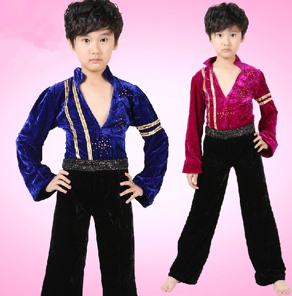 Free shiping kid\u0027s performance latin dress Clothes Children Boy\u0027s Latin  Dance Shirt Dancing Costumes Boys Latin dancing wear,in Latin from Novelty  \u0026 Special