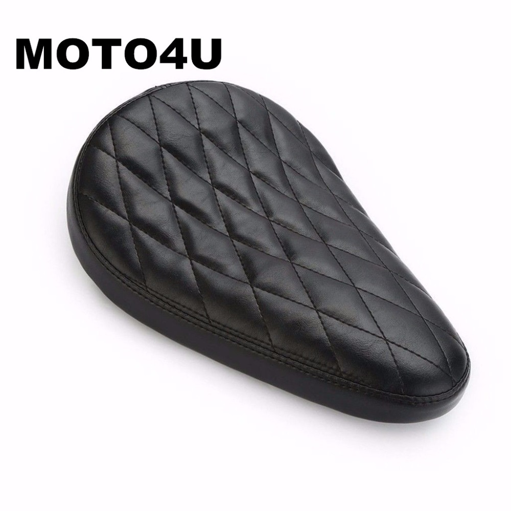 MOTO4U Motorcycle Black Diamond SOLO Driver Seat For Harley Sportster Bobber XL Custom стоимость