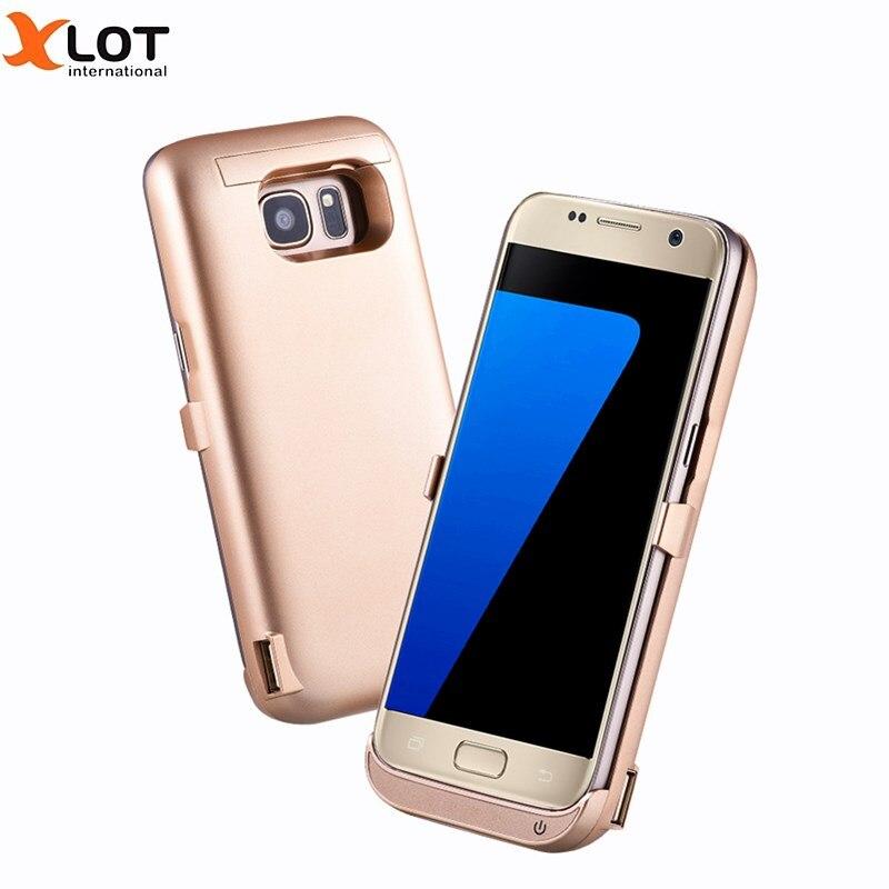 bilder für Für S7 Rand Externen Ladegerät Fall 6500 mAh Energienbank abdeckung Für Samsung S7 Rand mit Ständer Handy Backup Ladegerät fall
