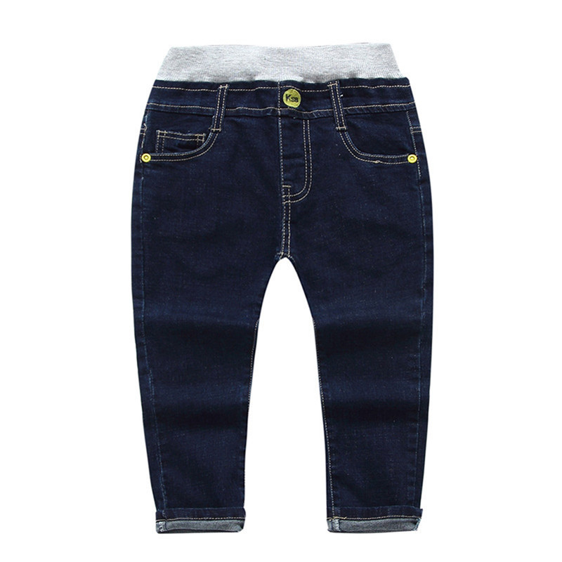Jiuhehall 2-5 Ages Spring Autumn Boy Girls Jeans Embroidered Full Length Denim Pants For Kids Fashion Wild Babys Trousers CMB761 (3)