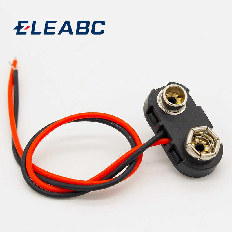 PP3 9V Batería Conector Tipo T Snap Clip De Plomo 15cm Plug Conector Adaptador